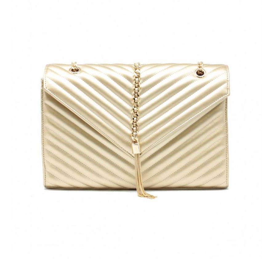 Dámska kabelka TOM EVA Dominica - zlatá 1dba16e6849